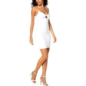 Guess Small White Mini Bodycon Slip Dress Strappy